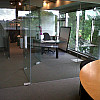 Supplied and Installed Office Glass Walls and Glass Doors Partitioning Systems in Burnaby