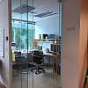 76148 room 343 completed office glass wall and office swinging door