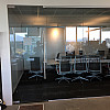 Repair interior board room frameless door