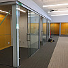 Interior office glass walls, sliding glass doors, curtain wall, colored writing glass wall