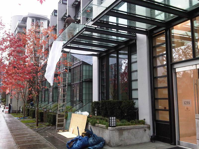 High Rise Broken Glass Canopy Replacement