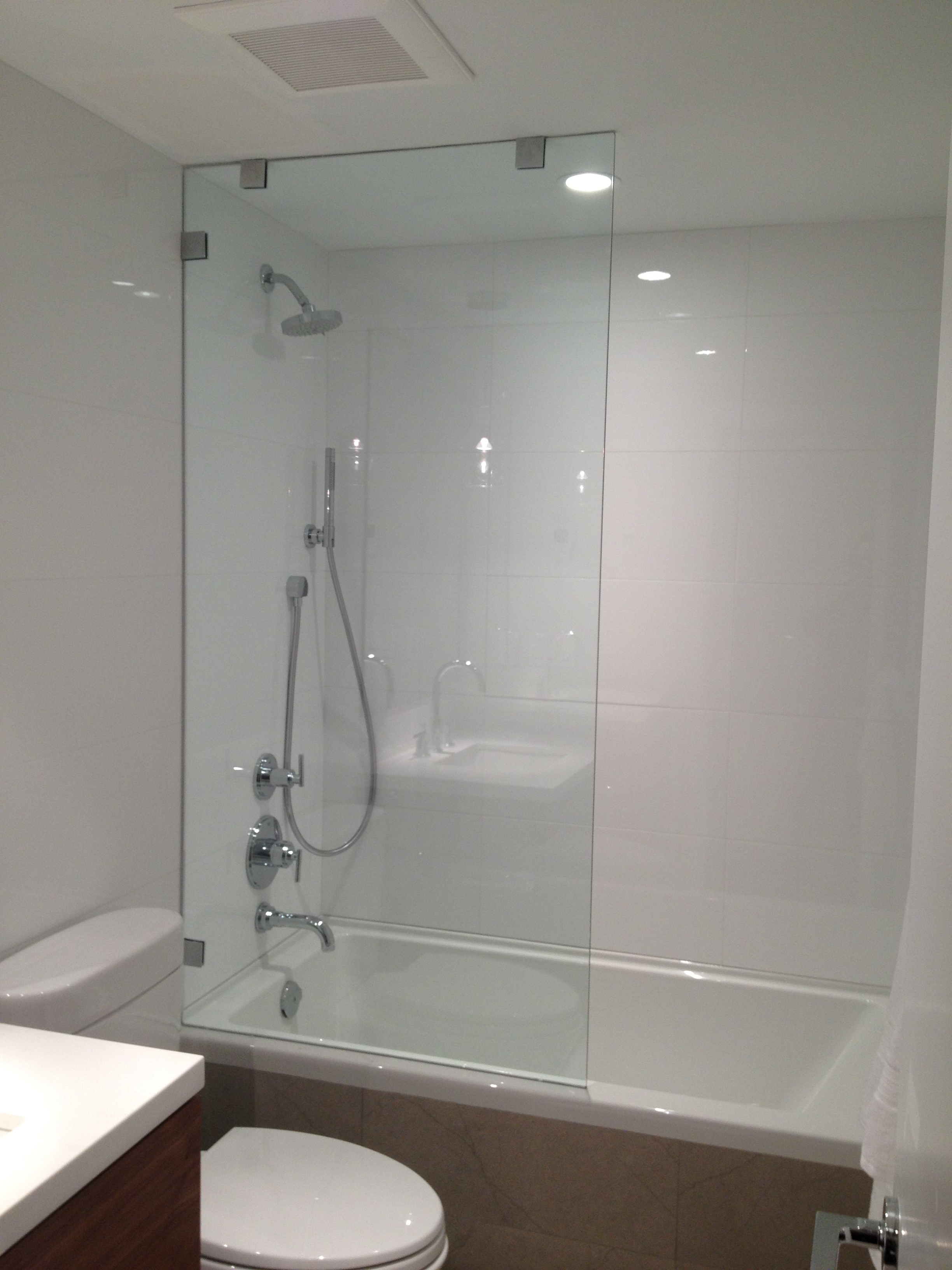 custom frameless glass shower