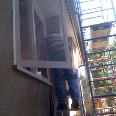Home window glass repair. New glass were installed during glass repair job. Wood window glass repair job require clear glass and putty. Glass repair bc. its in vancouver