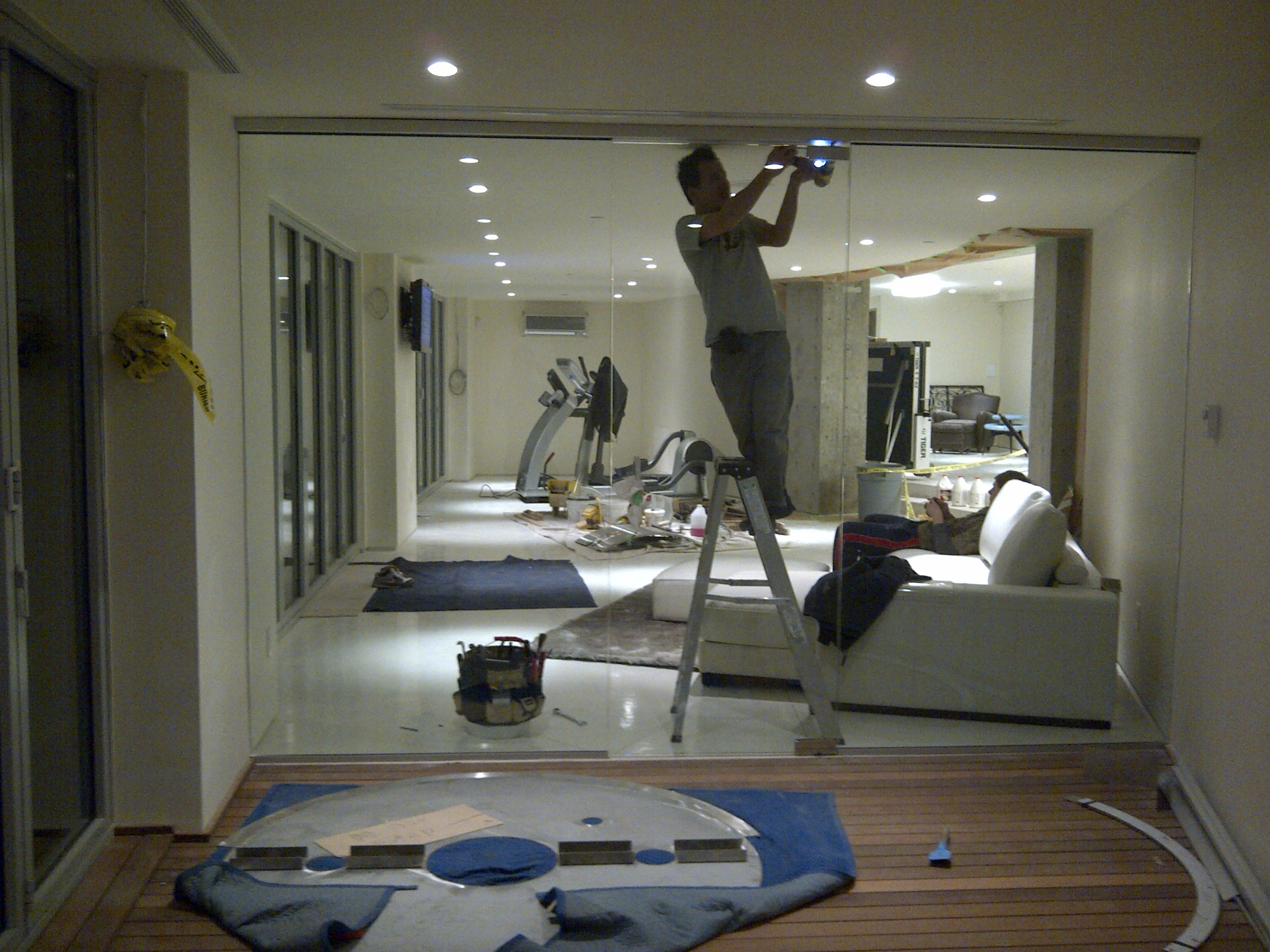 Glass walls installation for interior offices or home Interior partitions for homes