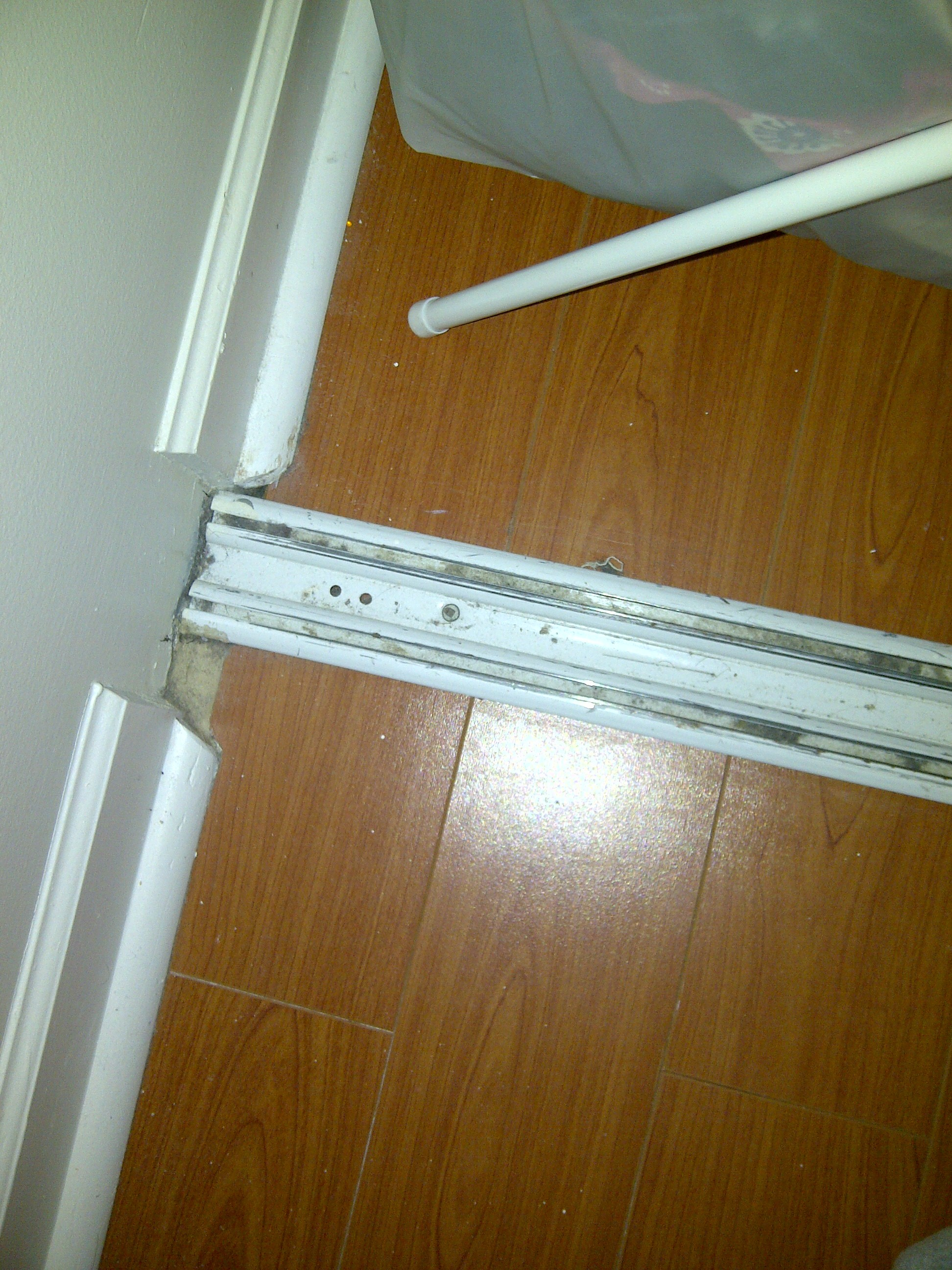 Sliding door bottom track pictures to pin on pinterest for Door replacement