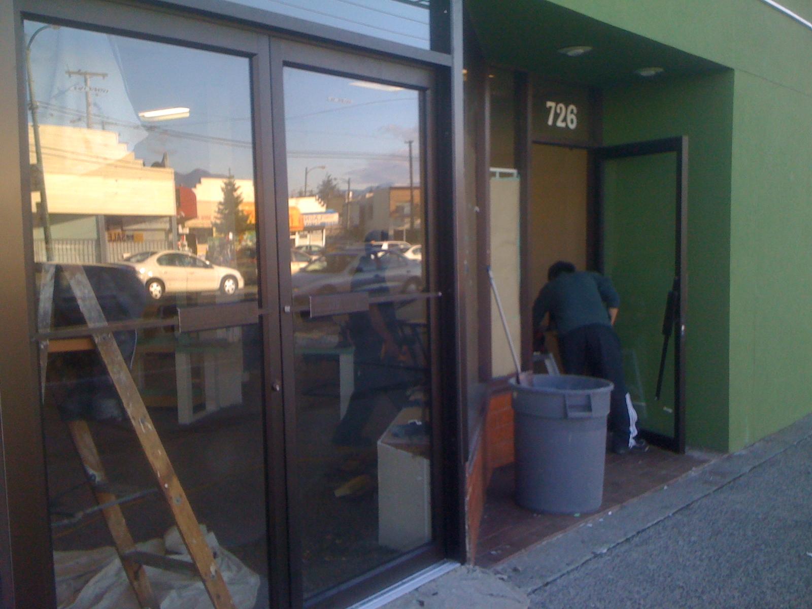 New Store Door This New Aluminum Glass Store Door Has All Hardware
