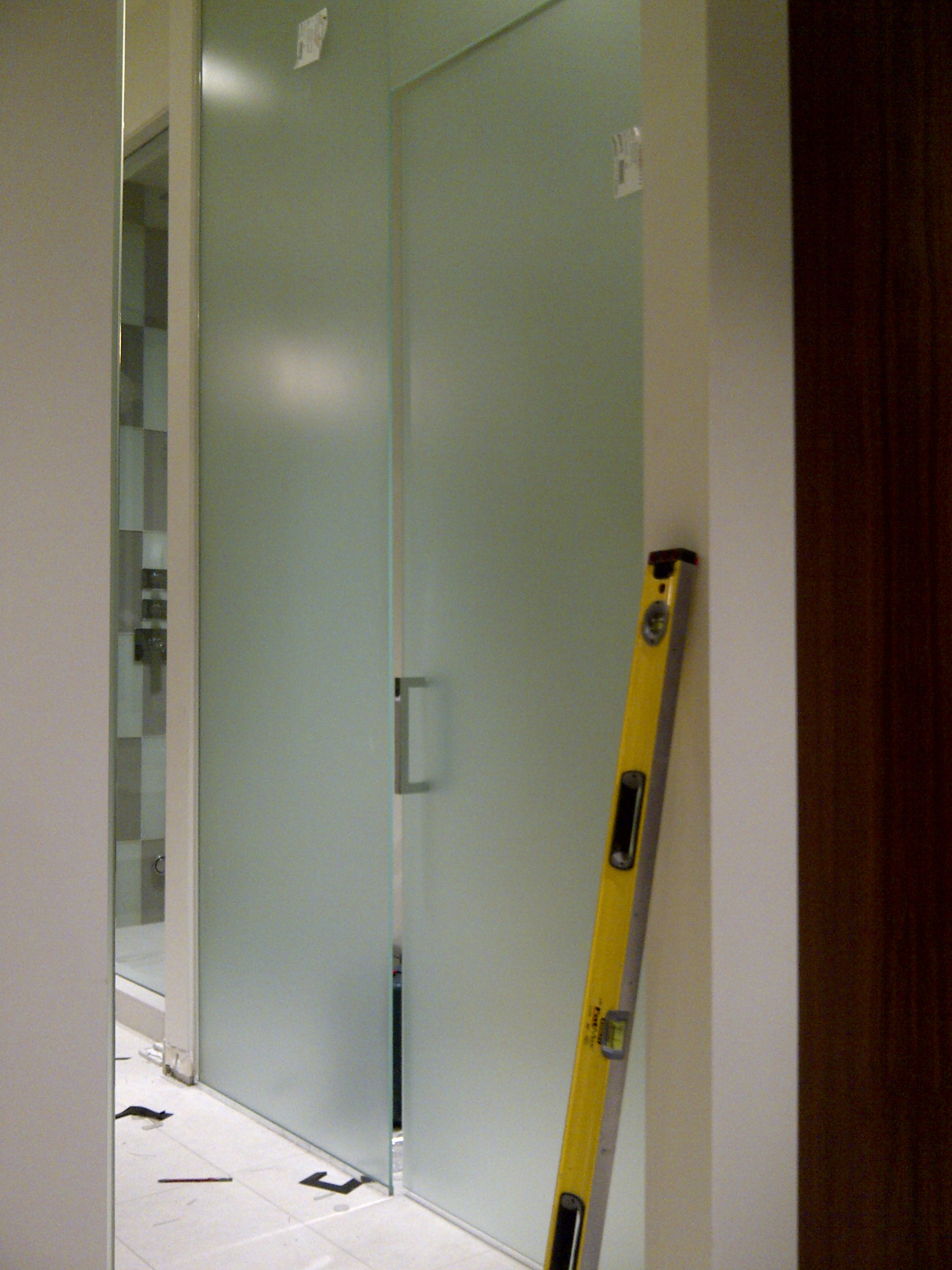Frosted glass bathroom doors - Frosted Glass Bathroom Door Water Closet With Frosted Glass Door