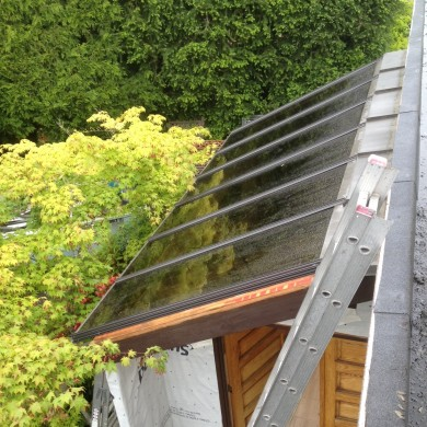 New residential home glass skylight in new westminster