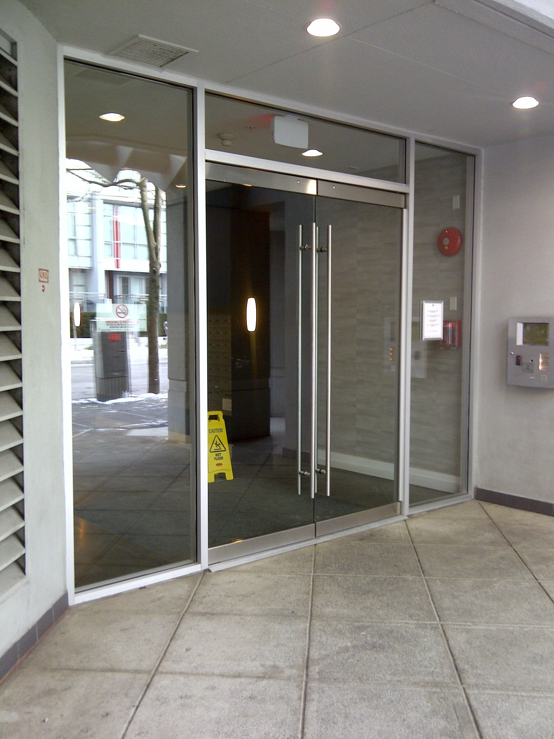 2592 #5A4E45 Doors Frosted Glass Doors Frameless Glass Doors Safety Glass Doors  picture/photo Commercial Building Entry Doors 45391944