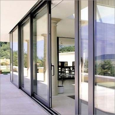 aluminum sliding door for residential home in downtown