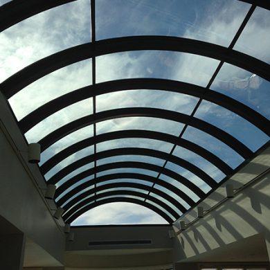 west Vancouver curve glass skylight