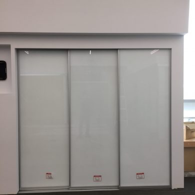 71530 office sliding frosted glass door