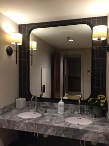 clear shaped mirrors glued to walls ( Frame are included)