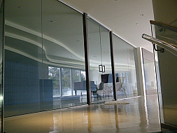 Luxury glass doors system for residential home