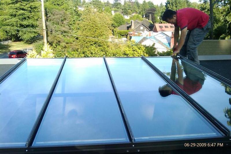 skylight flat panel new installation