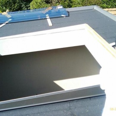 Installed new skylights into a Vancouver home. The new skylights were installed onto an existing home roof. All glass panels on new skylights were custom.