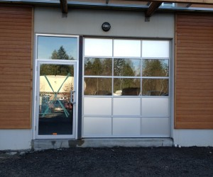 Installed new commercial doors. These commercial doors were custom built to look like an industrial heavy duty looking doors. The commercial doors came with all hardware.