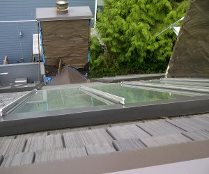 North Vancouver skylights glass replacement. Roof skylights came with safety double pane glass panels. Skylights are fully sealed for leak safe.