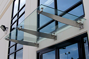 Bracket Glass Canopy